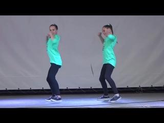 Танец Хватит учить - давай танцевать! (hip-hop) - Соня и Ксюша Макиенко - Битва талантов-2015
