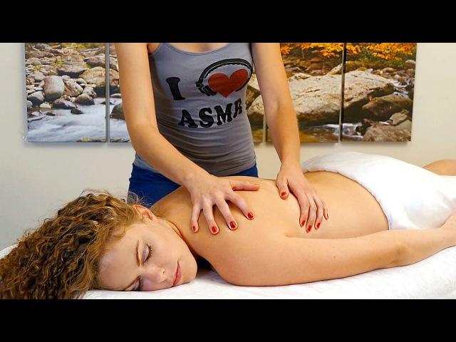 ASMR Massage Whisper – Binaural Ear to Ear Back Massage Relaxation Pain Relief