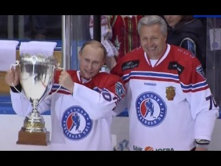 Владимир Путин забросил 8 шайб сборной НХЛ (обзор матча, хоккей)