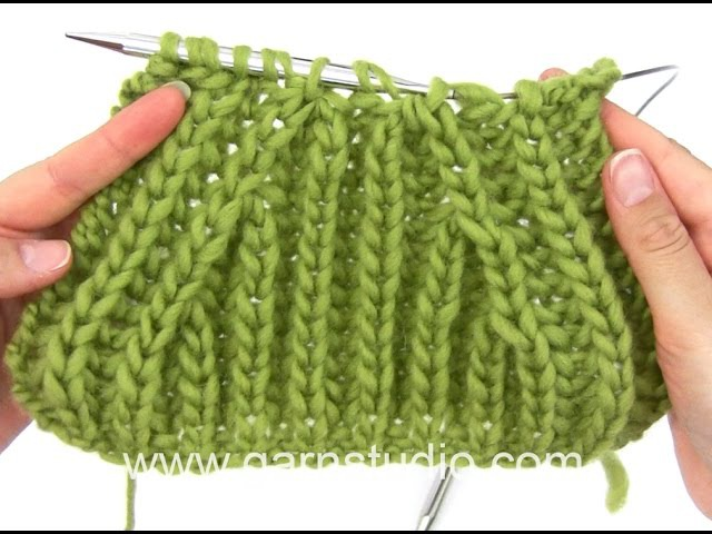 How to knit English rib with raglan decrease