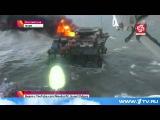 В Каспийском море у берегов Азербайджана пожарные продолжают бороться с огнем на буровой платформе