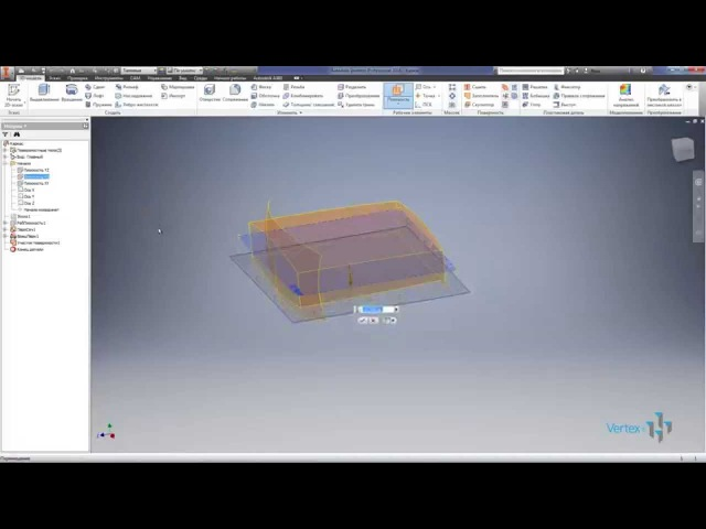 Литые пластиковые детали, пресс формы, поверхности в Autodesk Inventor