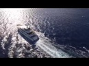 Ethanol fireplace by Planika on Serenity yacht by Mondomarine