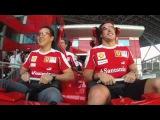 Ferrari's Alonso and Massa ride world's fastest rollercoaster at Ferrari World