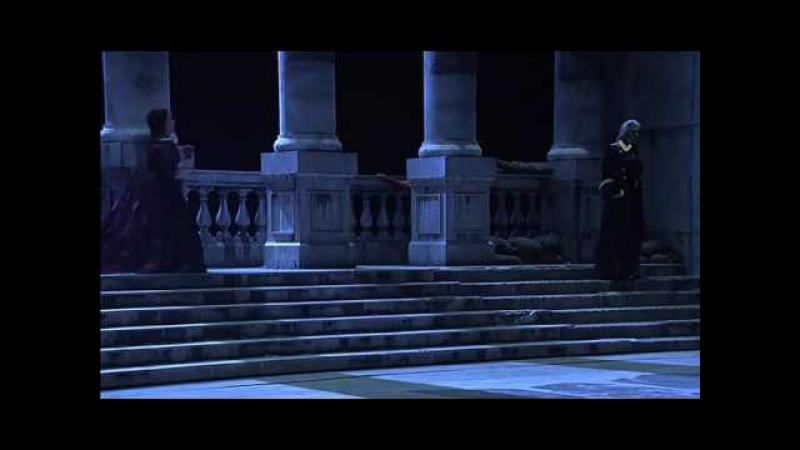 Battle scene Jose Cura vs Dmitri Hvorostovsky (Il trovatore)