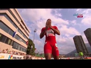 Asafa Powell wins 100m 9.87 Luzern 2015