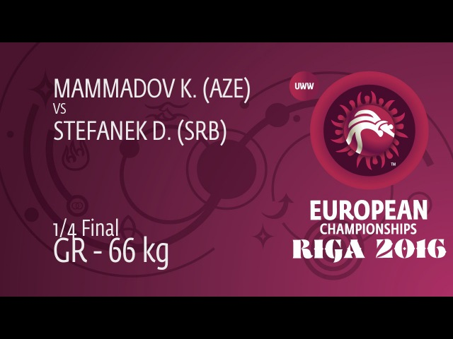 1/4 GR - 66 kg: D. STEFANEK (SRB) df. K. MAMMADOV (AZE) by TF, 9-0