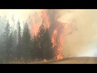 NEW:Верховой пожар . Тува. весна 2013