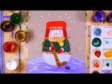 Как нарисовать снеговика - урок рисования для детей от 5 лет, поэтапно, хоккей
