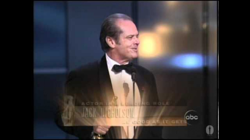 Jack Nicholson winning an Oscar® for As Good as it Gets