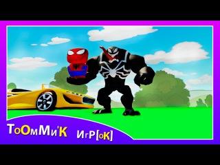 Веном и машинки из мультфильма ТАЧКИ. Игра ДИСНЕЙ про машинки для детей. Venom & Disney Pixar Cars