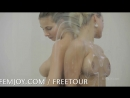Lesbian shower fun with Marry Queen and Connie Carter