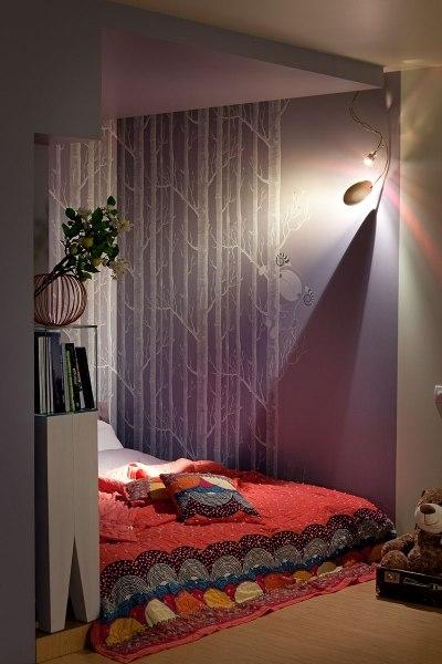 Перепланировка 1-комнатной квартиры в студию 36 м в Киеве.