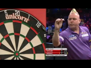 Phil Taylor vs Peter Wright (Sydney Darts Masters 2015 / Semi Final)