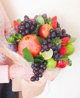 Цветы из фруктов спб