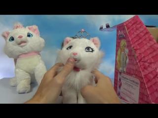 Барби Блиса интерактивная кошечка игрушка с короной и аксессуарами Barbie toy kitten Blisa unboxing