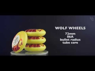 UC Wheels Wildlife collection - Wolf 72mm wheels