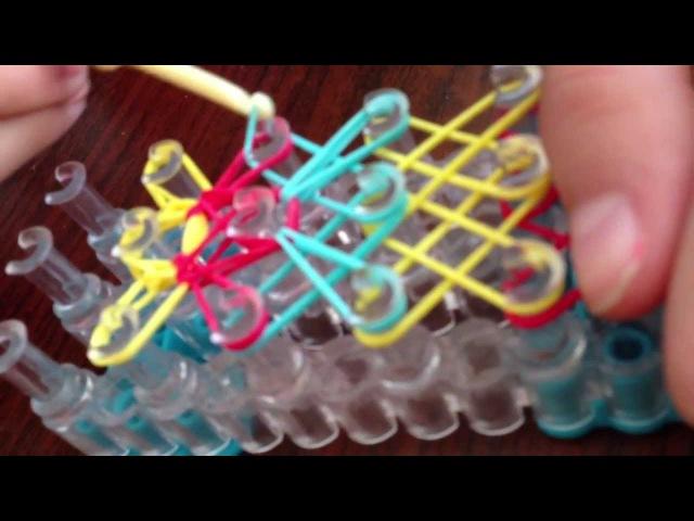 Плетение на большом станке резиночками