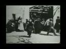 Выход рабочих с фабрики Люмьер 22 марта 1895 3 версии