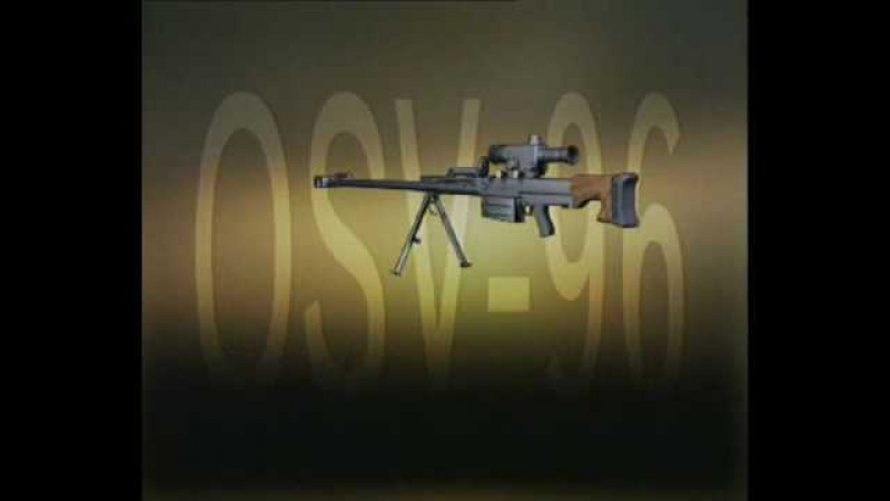 Large caliber sniper rifle OSV-96 (К.С.В. ОСВ-96 )