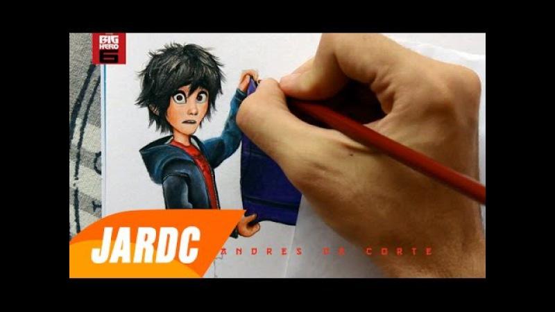 Drawing Hiro and Baymax DISNEY