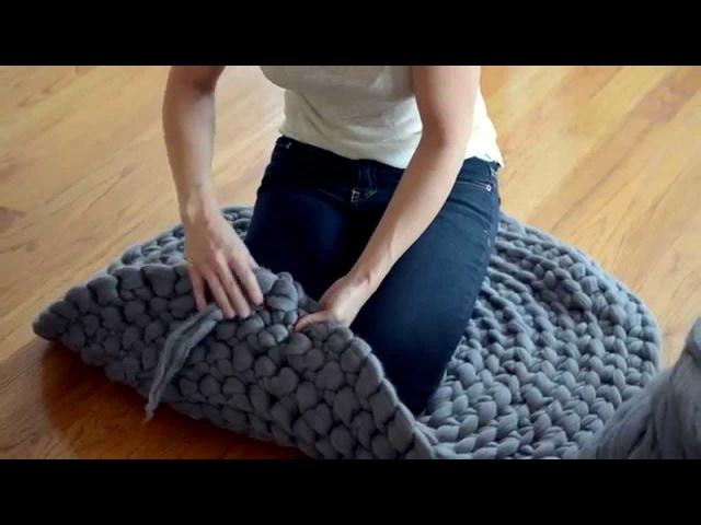 Как связать гигантский круглый ковер своими руками
