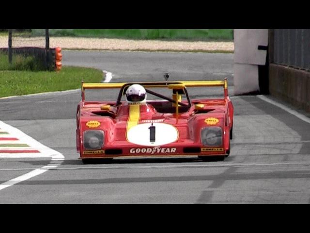 1972 Ferrari 312 PB 3.0L Flat-12 Sound - Warm Up Fly Bys