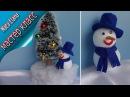 Снеговик своими руками. Новогодняя поделка , Часть вторая.
