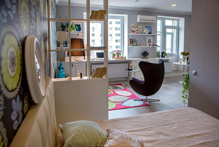 Яркий интерьер квартиры 43 м в Красногорске от студии Zi-Design.