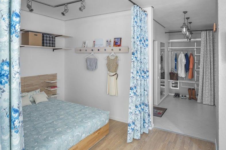 Студия из 1-комнатной квартиры 39 м в Киеве.