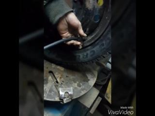 Новобелокатай ремонт шины.