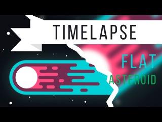 [TIMELAPSE] Asteroid Illustration