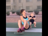"Kristy and Tucker on Instagram: ""I started working out 6 weeks postpartum and I started working out with Tucker once he was 4 months old and had strong neck control. He…"""