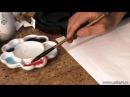 Уроки по китайской живописи дикая орхидеи 兰花 Урок 4 Общее в рисование травы и живописи орхидеи