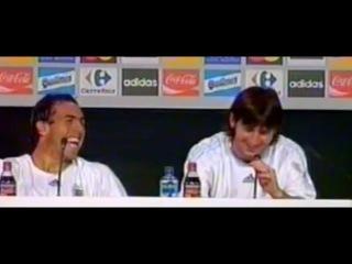 La broma de TEVEZ a MESSI en la rueda de prensa más cómica ● FUTBOL MUNDIAL ● HD