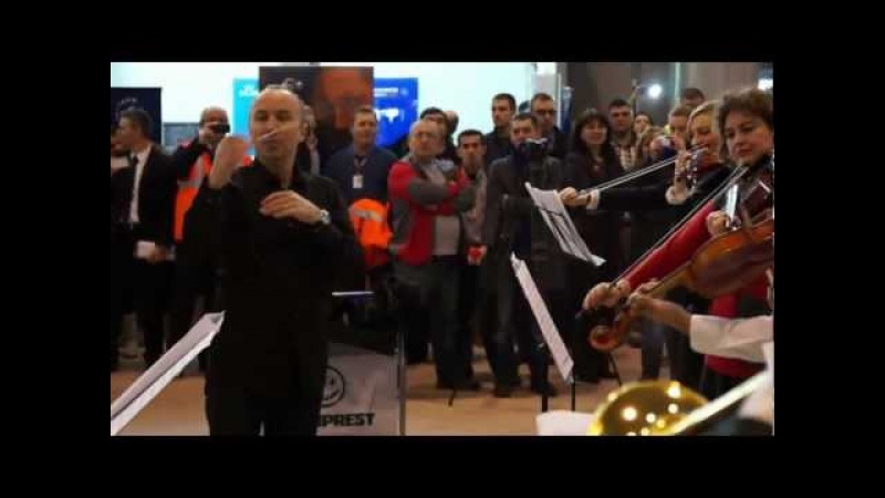 HD Flashmob Bucharest Airports Company: Bucharest Symphony Orchestra at Henri Coanda Airport