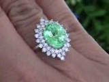 Lea Michele GIA Certified Paraiba Tourmaline &amp Diamond Cocktail Ring Solid 14K Gold Must Be sold