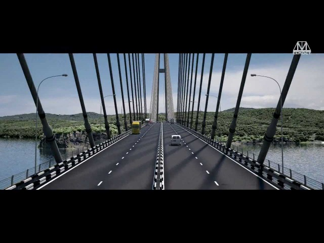 Мост на остров Русский во Владивостоке ноябрь 2011