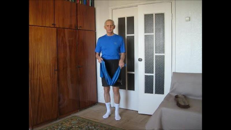 Подготовка к упражнениям с резиновой лентой Alexander Zakurdaev