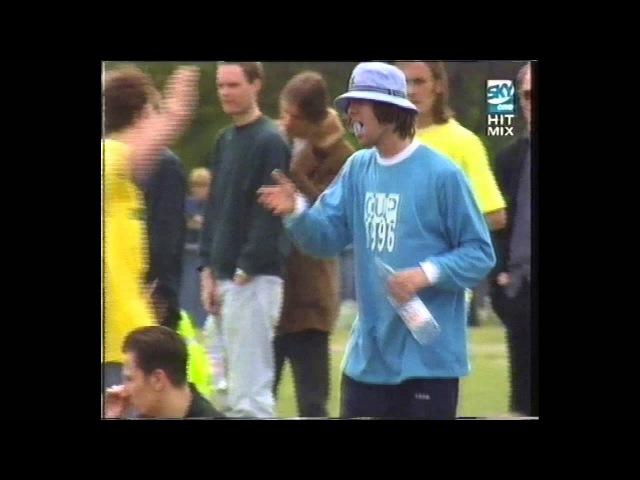 Oasis, Blur, Robbie Williams, Britpop - Music Industry Soccer Six 1986 coverage @britpopnews robbie