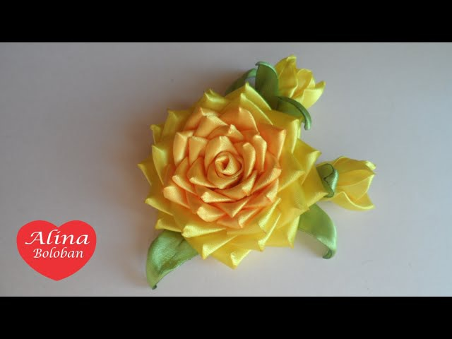 Роза Канзаши Осенняя / Rose Kanzashi Autumn