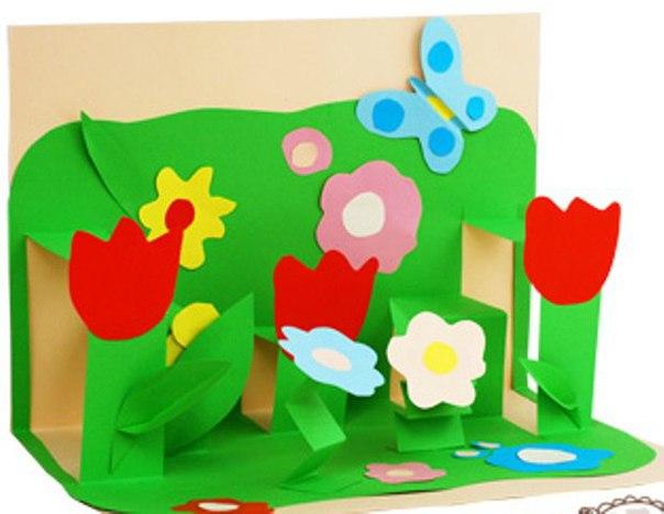 Поделки из бумаги и картона на день рождения маме
