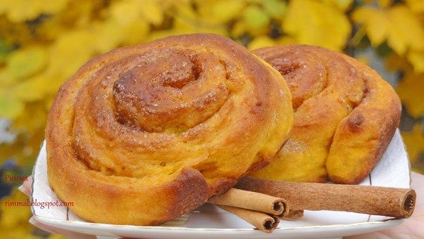 Тыквенные булочки рецепт фото