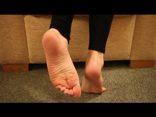 Playing with my bare feet, in deep blue toes