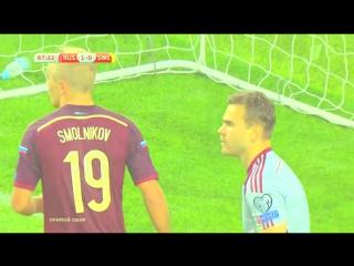 Мега-сейв Акинфеева в матче Россия-Швеция(1:0). 05.09.15