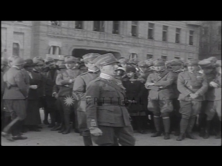 Gabriele d'[annunzio and military volunteers occupy fiume] [1919]