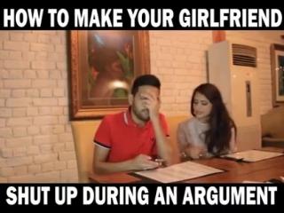 Как сделать так, чтобы девушка в споре замолчала?