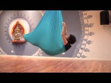 Aerial Yoga Pose Instruction: How to do a Shoulder Stand in an Aerial Yoga hammock