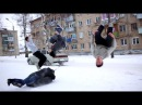 Russia winter = something crazy. Daredevil youths show off cool outdoor stunts