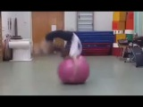 Incredibly Flexible Girl with Ball